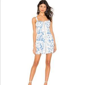 X REVOLVE Monika Hook Front Mini Dress in Blue